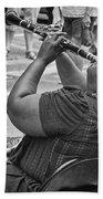 Royal Street Clarinet Player New Orleans Beach Towel