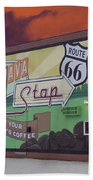 Rt 66 Dwight Il Java Stop Beach Towel