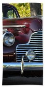 Ruby Red Buick Beach Towel