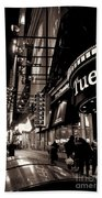 Ruby Tuesday's Times Square - New York At Night Beach Sheet