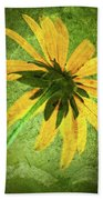 Rudbeckia On Cement Beach Towel