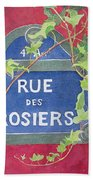 Rue Des Rosiers In Paris Beach Towel