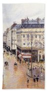 Rue Saint Honore Afternoon Rain Effect Beach Towel
