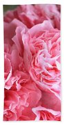 Ruffly Pink Hollyhock Beach Towel