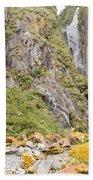Rugged Mountain Wilderness Vegetation Beach Towel