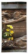 Ruggeri Roncoroni Guzzi Grave Marker Monumental Cemetery Milan Beach Towel