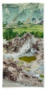Ruins At Basgo Monastery Ladakh India Beach Towel
