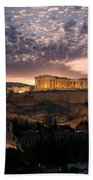 Ruins Of A Temple, Athens, Attica Beach Towel