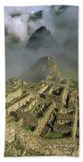 Ruins Of Machu Picchu Peru Beach Towel