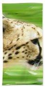 Run Cheetah Run Beach Towel