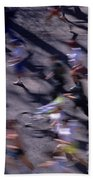 Runners Along Street In A Marathon Blurred And Abstract Beach Towel