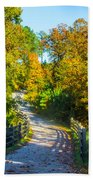 Runner's Path In Autumn Beach Towel