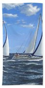 Running Close Hauled Beach Towel