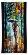 Running Towards Love - Palette Knife Oil Painting On Canvas By Leonid Afremov Beach Towel