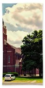 Rural Church Usa Beach Towel