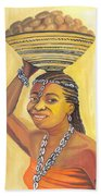 Rural Woman From Cameroon Beach Towel