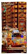 Rush Hour - Traffic In New York Beach Towel