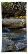 Rushing Mountain Stream Beach Towel