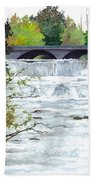 Rushing Water - Quiet Thoughts Beach Towel