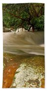 Rushing Waters In A Rocky Creek Beach Towel