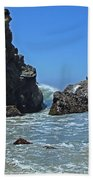 Rushing Wave - Big Sur Beach Towel