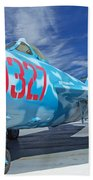 Russian Aircraft Mig At Interpid Museum Beach Towel
