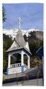 Russian Orthodox Church Bell Tower Beach Sheet