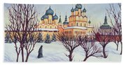 Russian Winter Beach Sheet