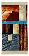 Rust And Rocks Rectangles Beach Towel