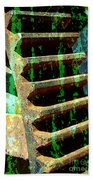 Rusted Gears Abstract Beach Towel