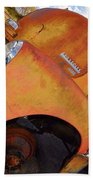 Rusted Out Chevrolet 5700 Beach Towel by Liane Wright