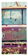 Rusted Truck Beach Towel