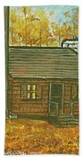 Rustic Cabin At Lake Hope Ohio Beach Towel