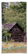 Rustic Cabin In The Mountains Beach Towel