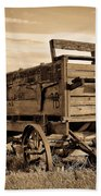 Rustic Covered Wagon Beach Towel