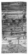 Rustic Old Colorado Barn Door And Window Bw Beach Towel