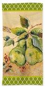 Rustic Pears On Moroccan Beach Towel