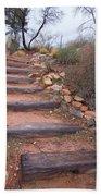 Rustic Stairway Beach Towel