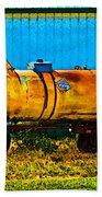 Rustic Tank Art Beach Towel