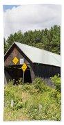 Rustic Vermont Covered Bridge Beach Towel