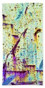 Rusty Background Beach Towel