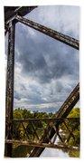 Rusty Bridge In Fall Beach Towel
