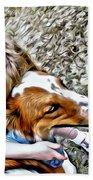Rusty Dog Love Beach Towel