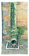 Rusty Drainpipe Beach Towel