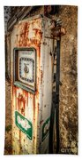 Rusty Gas Pump Beach Towel