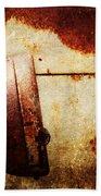 Rusty Headlamp Beach Towel