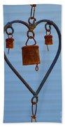 Rusty Heart 1 Beach Towel