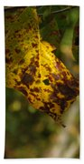 Rusty Leaf Beach Towel