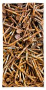 Rusty Nails Abstract Art Beach Towel