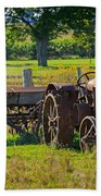 Rusty Old Mccormick Deering Tractor Beach Towel
